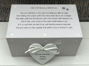 Personalised LARGE Memory Box ~ BABY LOSS ~ Any Name ~ Bereavement In Memory Of - 253464932220